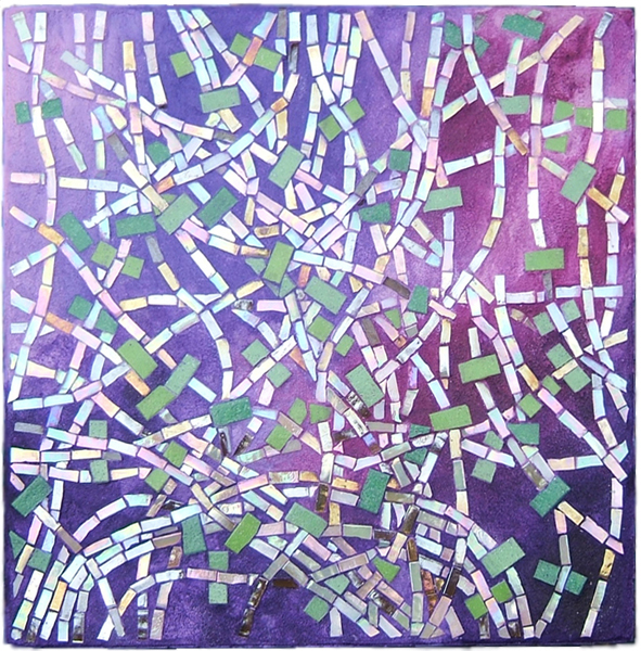 abstract mosaic art about neurons by Lynn Bridge