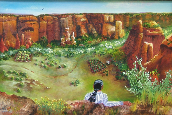 painting of canyon de chelly by Lynn Bridge