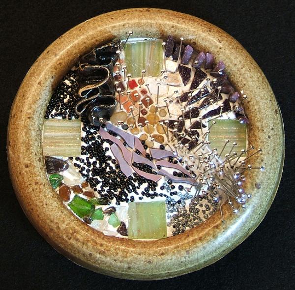 mosaic art by Lynn Bridge.  theme is the speed of time