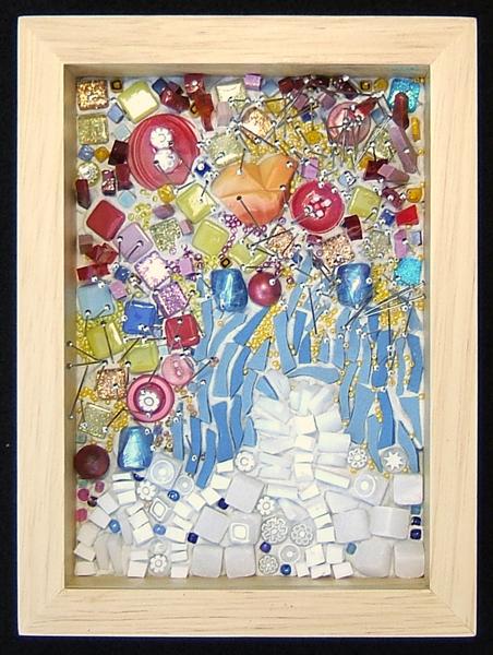 mosaic art about celebration by Lynn Bridge