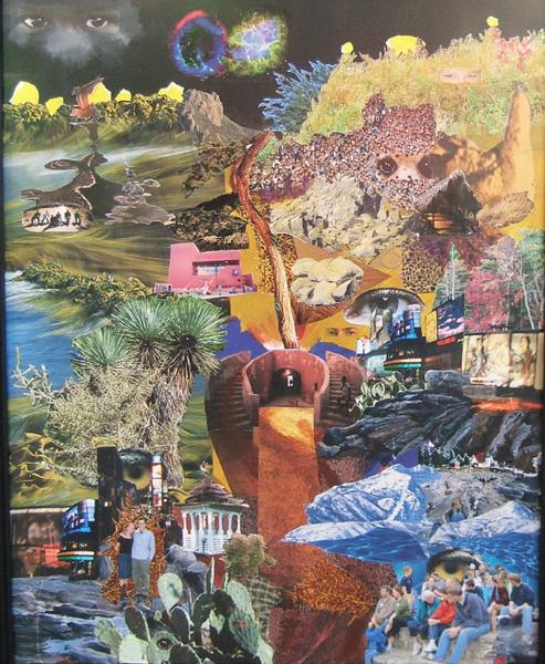 collage of a pathway through life by Lynn BRidge