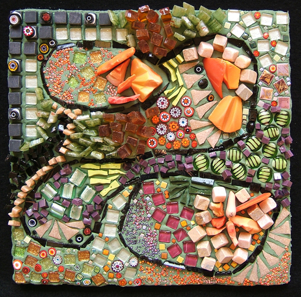 mosaic art about singing in four-part harmony by Lynn Bridge