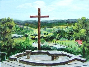 painting of the chapel on the hill at MoRanch Presbyterian Conference Center