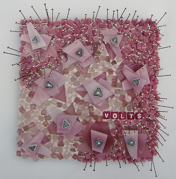 "pink mosaic art ""Volts"" by Lynn Bridge"