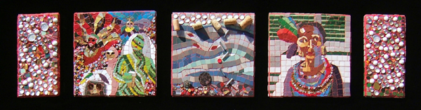 Mosaic art about New Orleans' flood, NOLA Watters