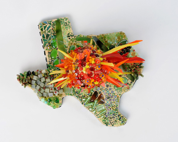 mosaic sculpture of Texas and the Sunrise by Lynn Bridge
