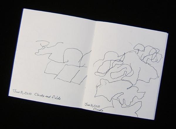 drawings from an airplane, Lynn Bridge
