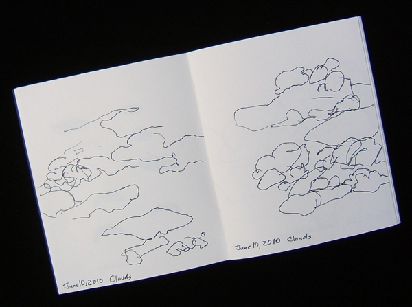cloud sketches made on an airplane