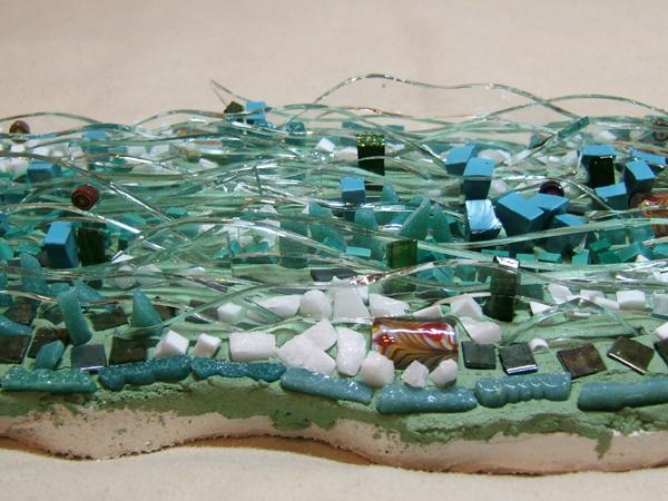close-up of eel mosaic
