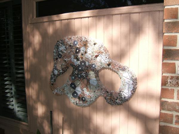 Mosaic by Lynn Bridge- World-wide hanging outside closeup