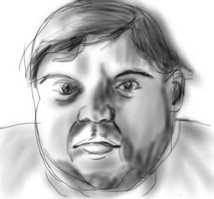 iPad sketch of Mr. L by Lynn Bridge