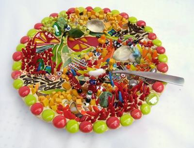 Mexican food mosaic by Lynn Bridge