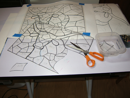 Making multiple tracings of the longhorn