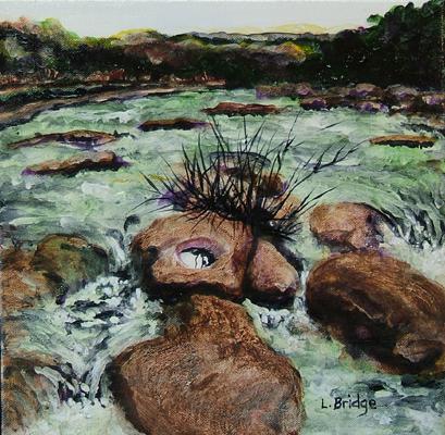 acrylic painting of barton creek by Lynn Bridge