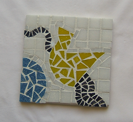 Origami mosaic sample made for a class at Glencliff Art Studio in Austin, Texas