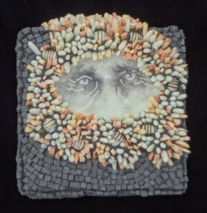 mosaic portrait by Lynn Bridge